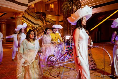 Bride and Groom Sangeet Entry