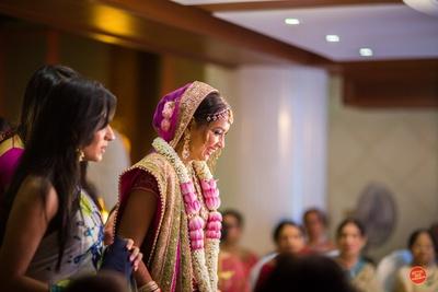 Bridal entry into the wedding mandap