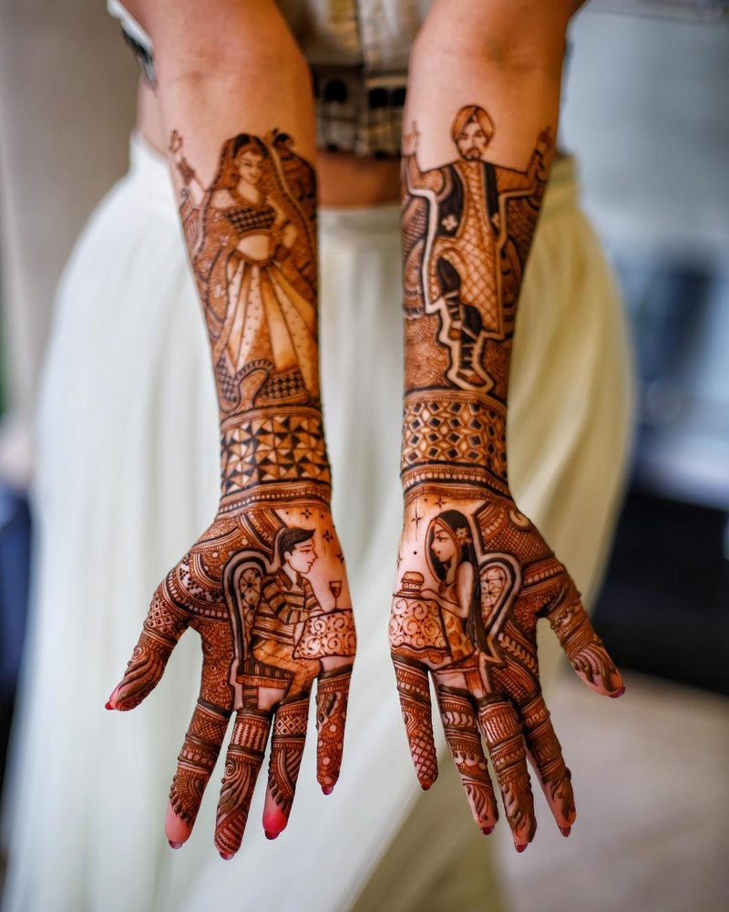 100+ mehandi design images to pin if you're attending a wedding or getting  married in 2019! | Bridal Mehendi and Makeup | Wedding Blog