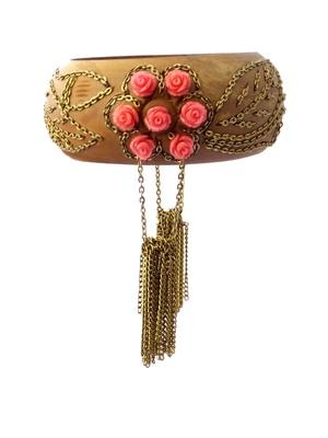 Handmade Coral & Wooden Bracelet