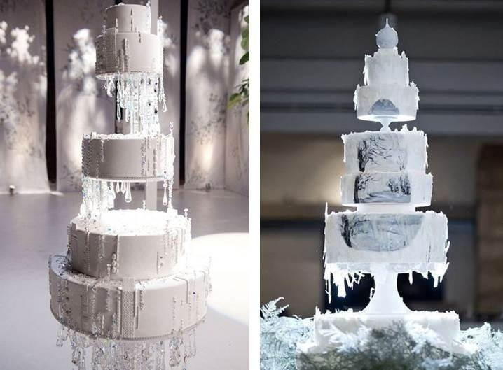 ICICLE WINTER WEDDING CAKES