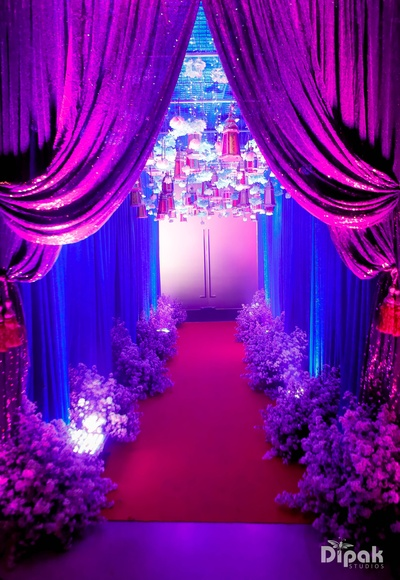 A beautiful decor at the ring ceremony