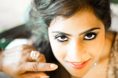 Bride getting ready for her Sangeet ceremony held at Radisson Blu, Alibaug