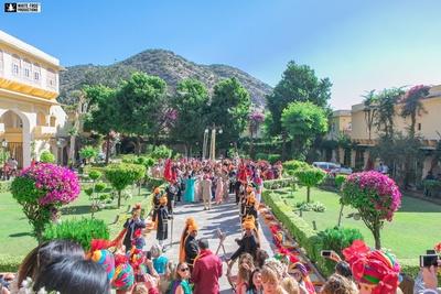 Baraat at Samode Palace, Jaipur.