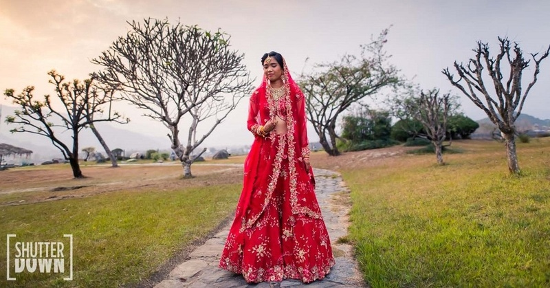 Bride Of The Week: This Bride's Red Lehenga Is A Mix Of Elegance and Simplicity