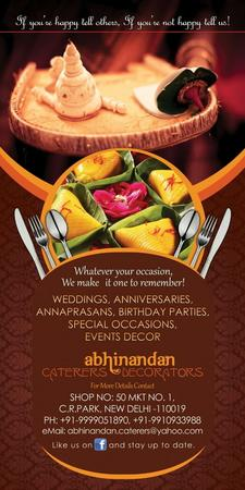 Abhinandan Caterers & Decorators | Delhi | Caterers