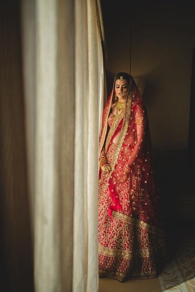 Bridal shot by Anuraag Rathi.