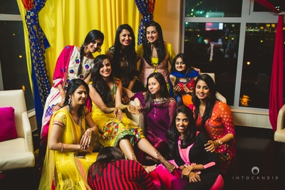 Bride and her bridesmaids on mehendi day!