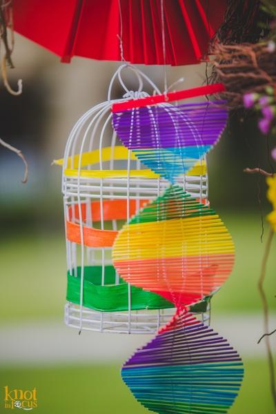 Multi-colored spiral decorative piece!