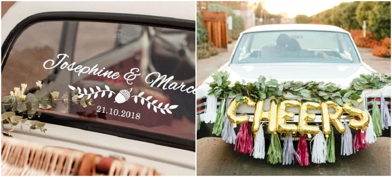 6 Cool Car Decor Ideas for Your Big Day