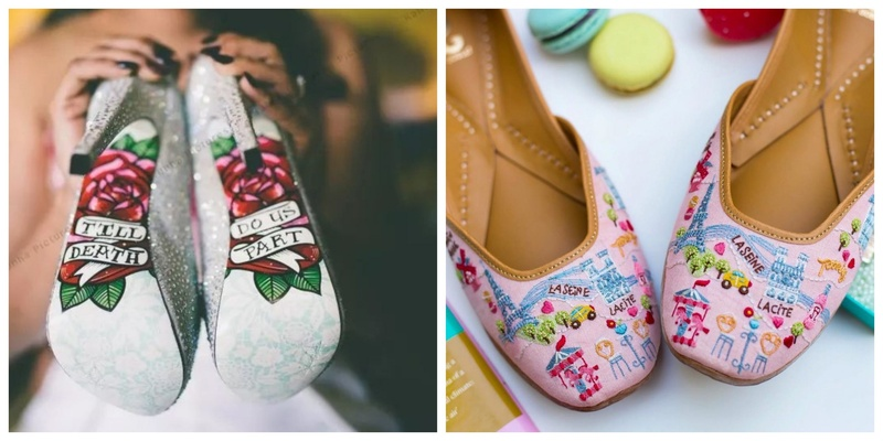 12 Quirky Footwear Worn by Real Brides