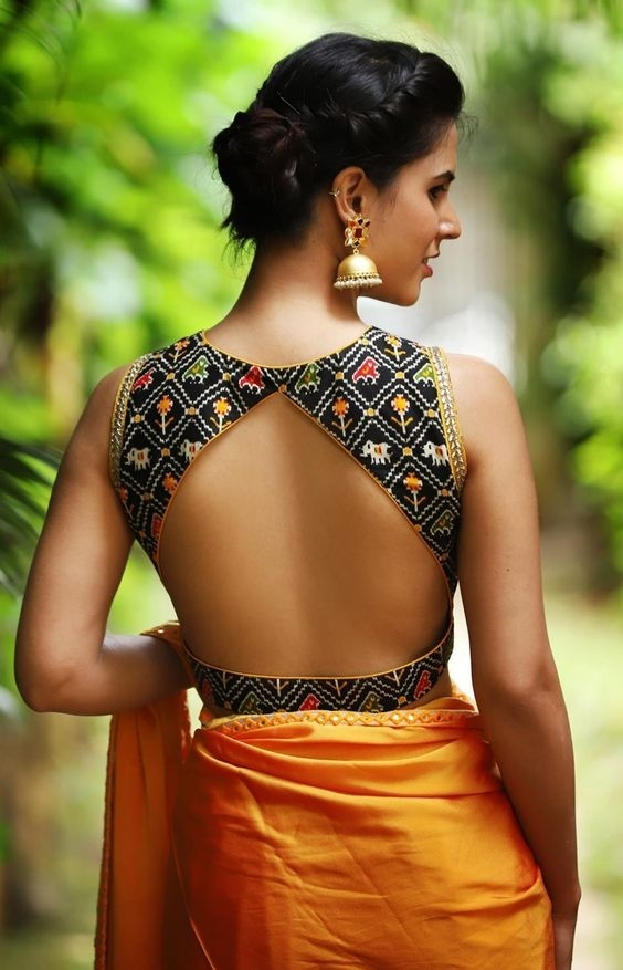 Simple Blouse Back Design Images