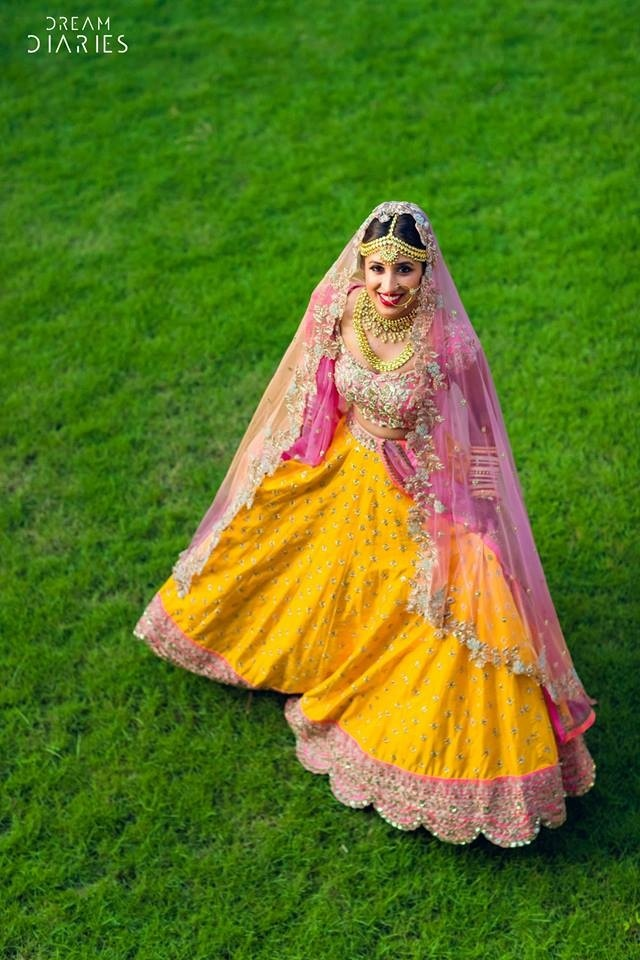 15 Brides Who Wore A Yellow Lehenga For Their Wedding And Rocked It Real Wedding Stories Wedding Blog