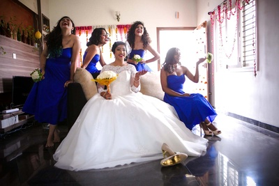 Bride and bridesmaids photography.