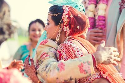 vidaai ceremony for the bride post the wedding ceremony