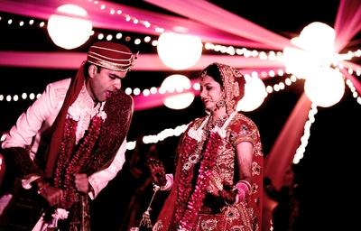 Newlyweds dancing and enjoying their big day