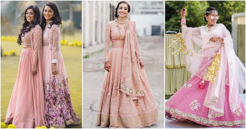 10 Pastel Pink Wedding Lehengas That The Coolest Indian Brides Flaunted