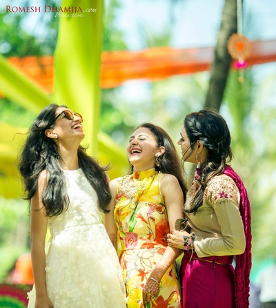 Laughs shared with the bride's besties