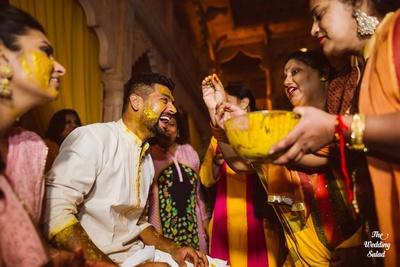 Arushi and Karthik's haldi ceremony