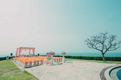 Wedding mandap photographed by Infinite Memories in Pattaya, Thailand