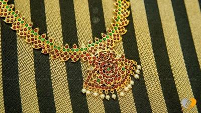 Kerela style traditional gold neckpiece