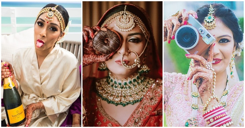 10 brides who rocked their photoshoot with a single prop!