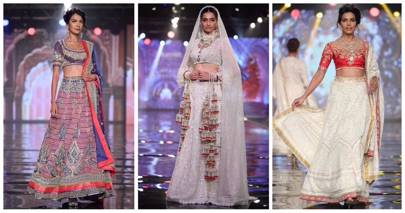 Abu Jani Sandeep Khosla's New Bridal Collection With Sonam Kapoor - The Latest Lehenga Trends Are Here!