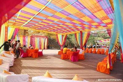 Vibrant indian outdoor wedding decor ideas