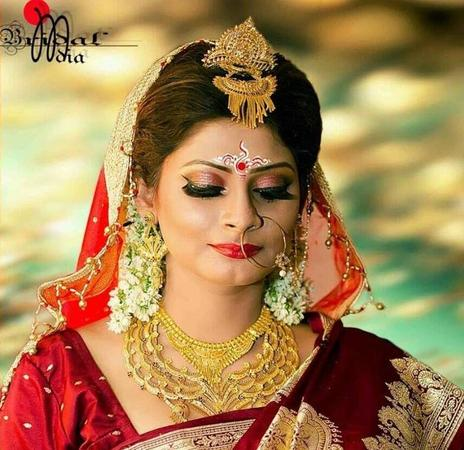 Bengali wedding bridal makeup artists in kolkata
