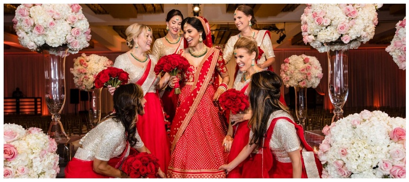 Savio & Alisha Ohio City : This bride color coordinated her outfit with her bffs and the result is #bridesmaidgoals!