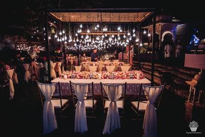Picturesque decor of the Sangeet ceremony