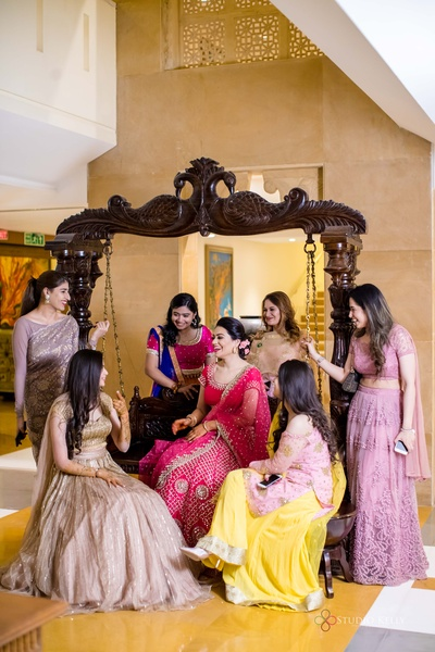 The bride and her bridesmaids- an irreplaceable bond!