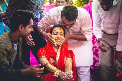 The brothers will use haldi ceremony as an excuse to slather you !