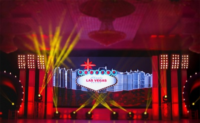 Quirky and fun Sangeet ceremony stage backdrop!