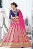 Variation Pink Georgette Bridal Lehenga Choli image