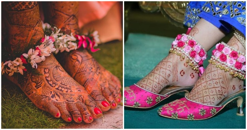 8 brides who floored us with their gorgeous floral anklets!