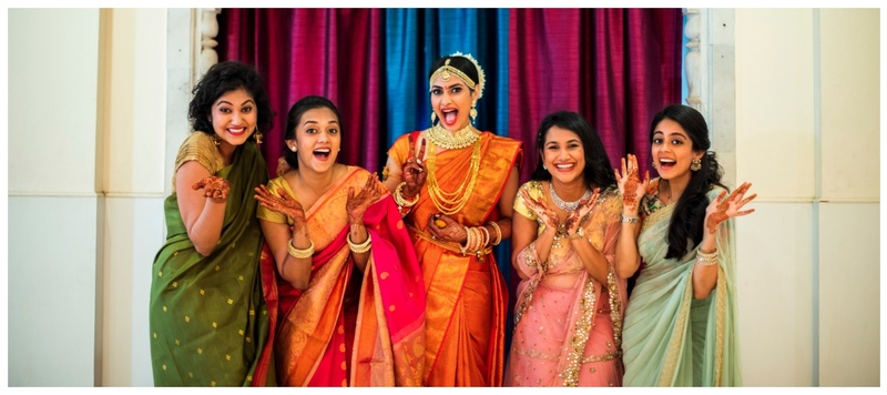 Kirti & Sayali Mumbai : This South indian bride's cheerful and quirky expressions will make your day!