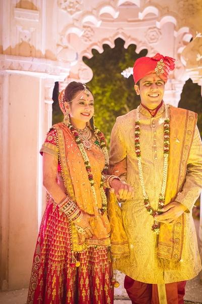 Newly weds enjoying the post wedding celebrations, the smile says it all