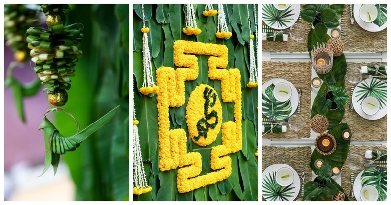 10 Ways to Incorporate Banana leaves in your Wedding