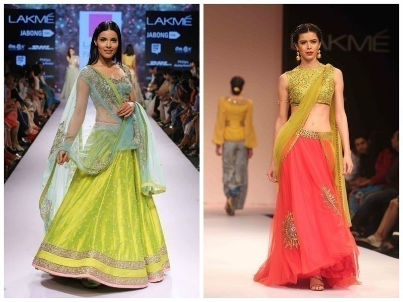 VIBRANTLY NEON LEHENGA COLOURS
