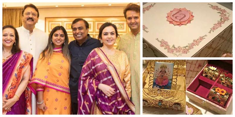 Isha Ambani and Anand Piramal's Royal Wedding Card is worth a whopping 3 Lakh!