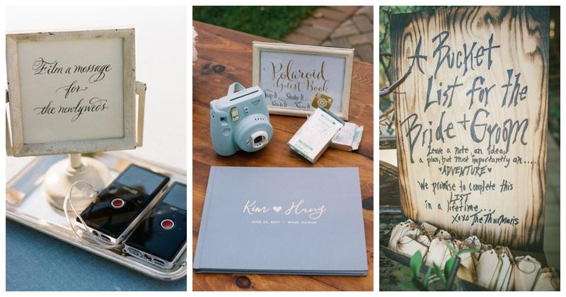 Personalised large luxury guest book photo album 30th birthday present design
