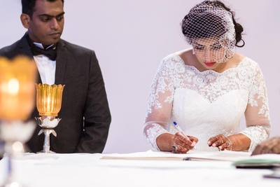Francis and Ujwala getting hitched.