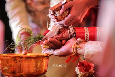 the wedding cermonies in process