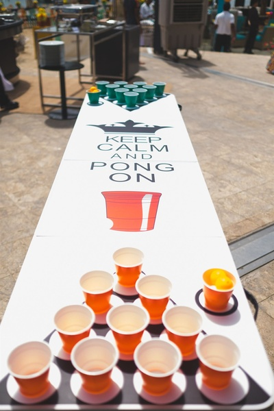 Quirky fun games at the pool party
