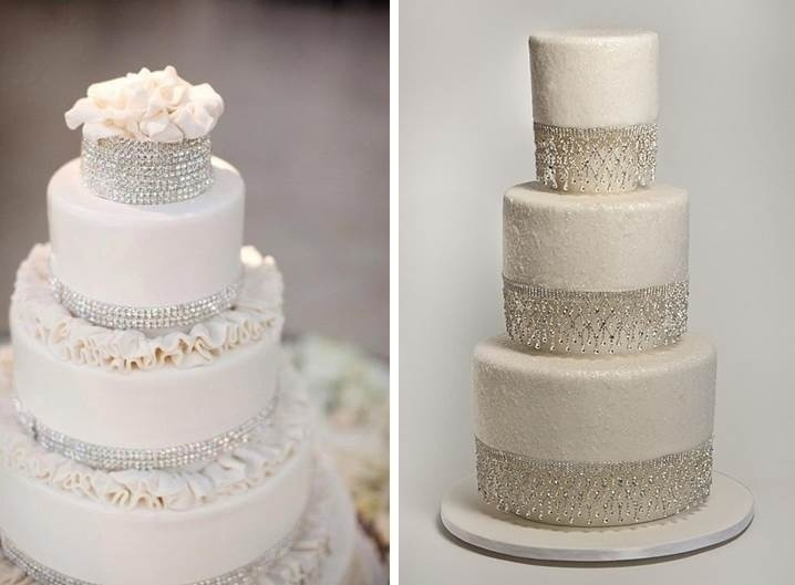 CRYSTAL WINTER WEDDING CAKES