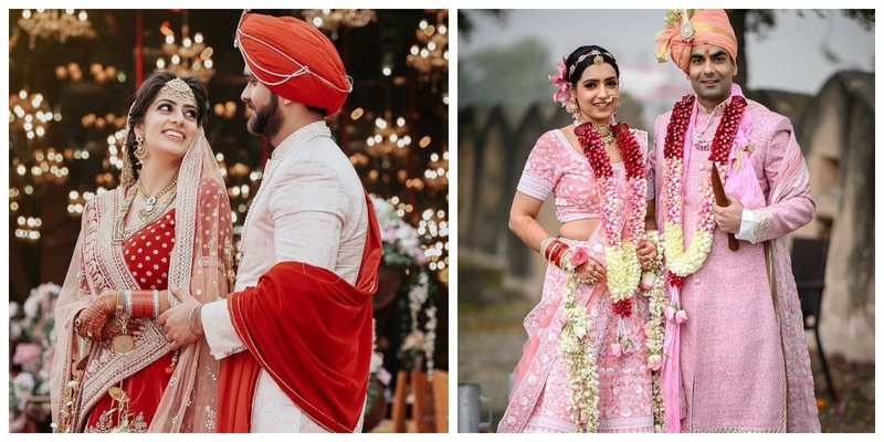 10 Couples who Co-ordinated their Wedding Outfits to a T!