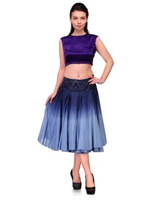 Anjana Misra Crop Top  with  Skirt