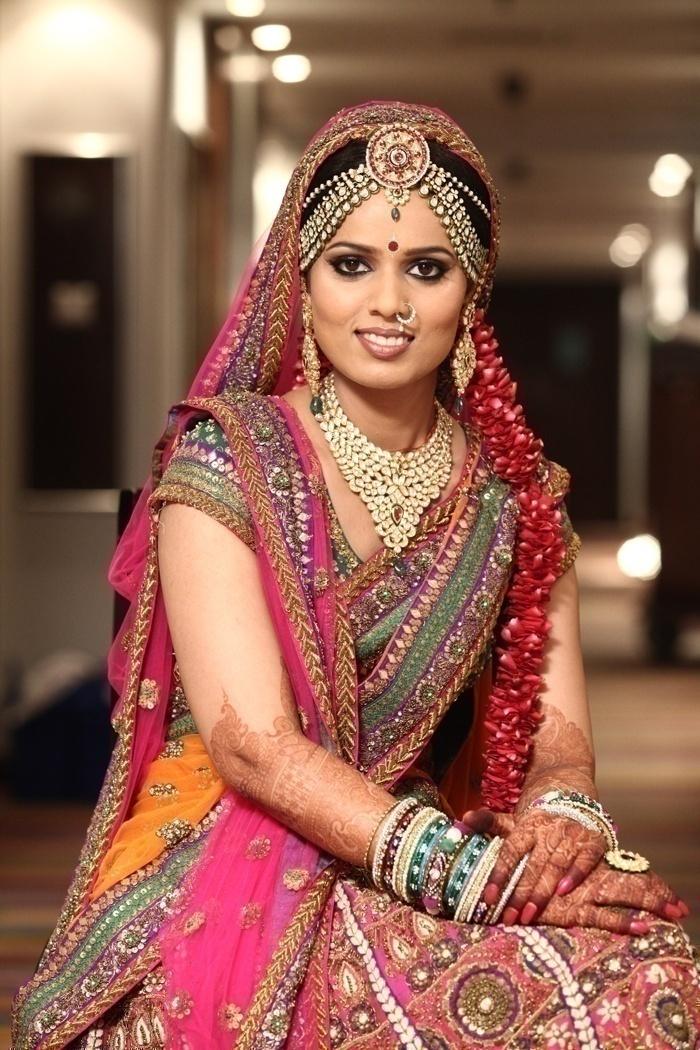 Multicolored Heavily Embellished Bridal Lehenga
