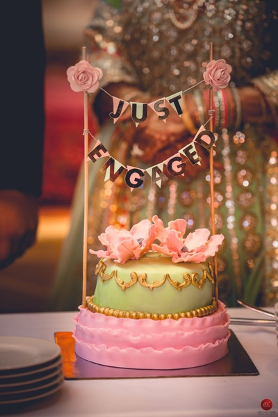 Absolutely mouth watering and beautiful cake for engagement party